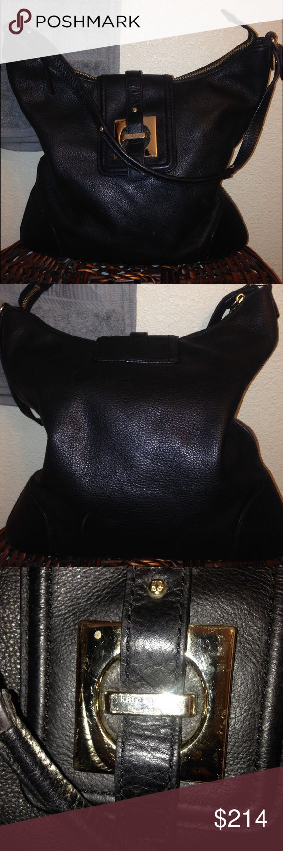 Kate Spade pebbled leather shoulder hobo bag Kate Spade pebbled leather shoulder hobo bag   Preloved  Missing dust bag Corners are tight  Scuff on shoulder strap  Pipping excellent Liner whole very little dirty  Magnetic snap closure kate spade Bags Hobos