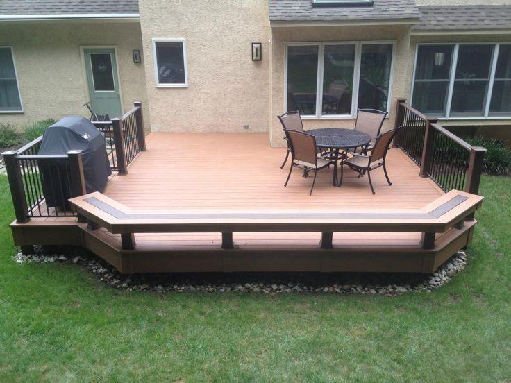 Low deck Rail meets bench Garden Pinterest Decks