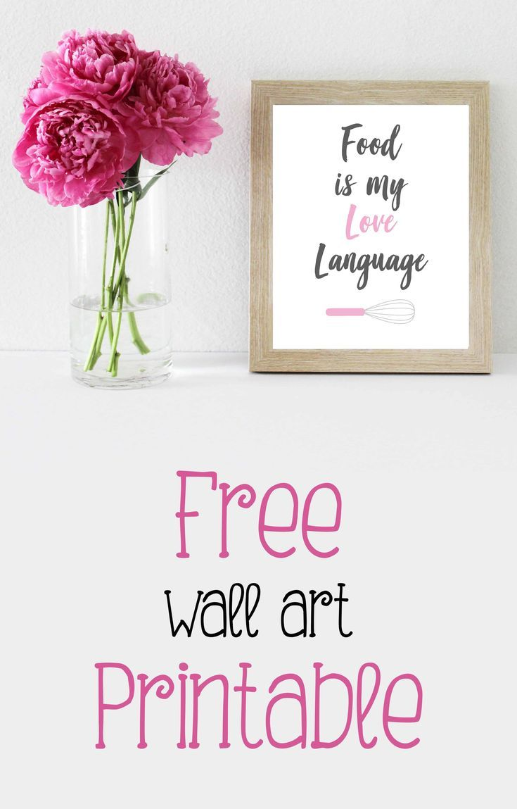 Food Is My Love Language Free Printable | DIY Projects | Kitchen