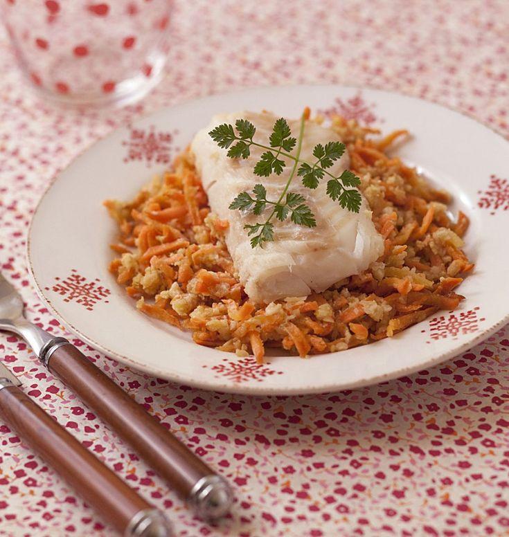 Dos de cabillaud aux carottes navets et gingembre en papillote - les meilleures recettes de cuisine d'Ôdélices