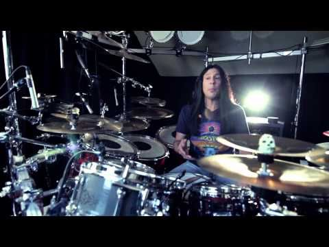 Mike Mangini at his Home Studio