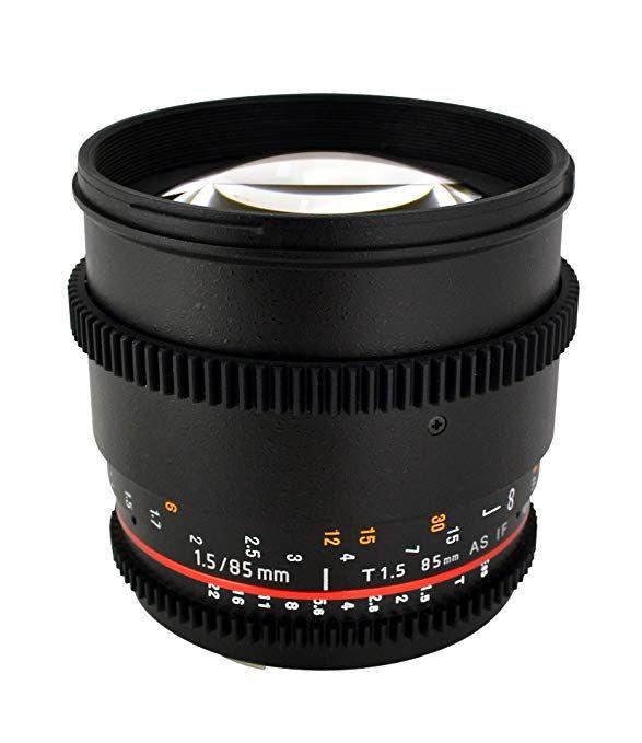 Rokinon Cine Cv85m Mft 85mm T1 5 Cine Aspherical Lens For Micro Four Thirds 85 85mm Fixed Lens For Olympus Panasonic Micro 4 3 Fixed Lens Dslr Video Canon Lens