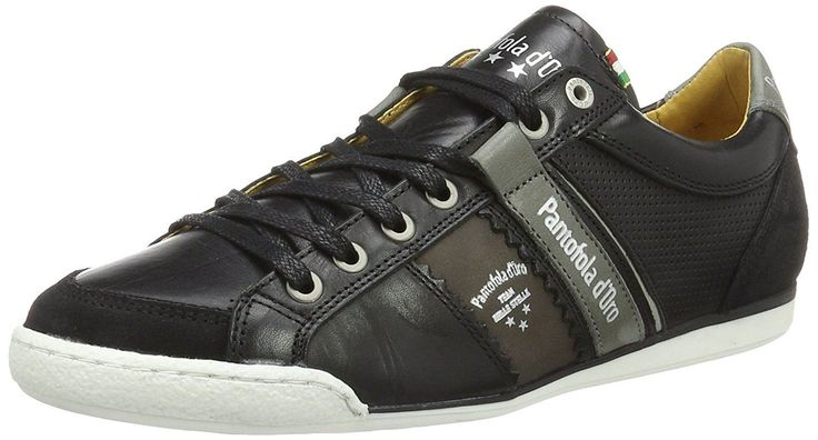 Pantofola d'Ora Savio Romagna Black White Leather Mens Trainers-8