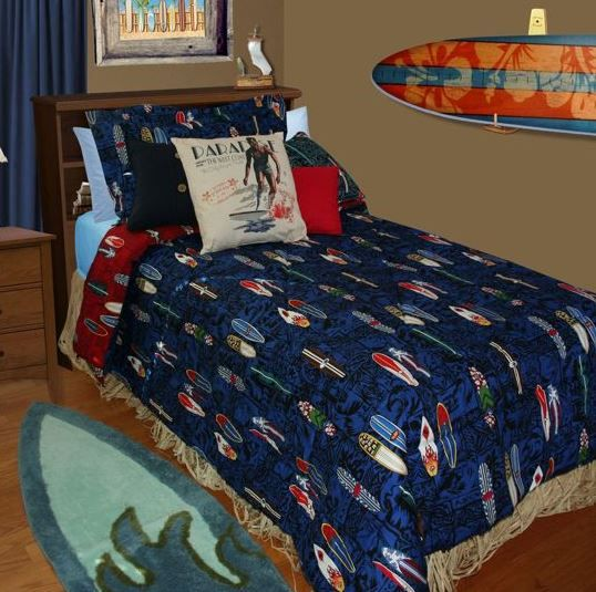Surf Bedding Sets Comforter, Surf Bedding Queen