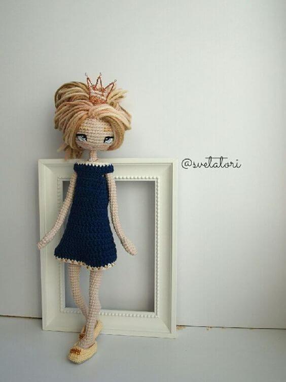 Muñeca Amigurumi Articulada - Patrones gratis | Muñecas | Pinterest ...