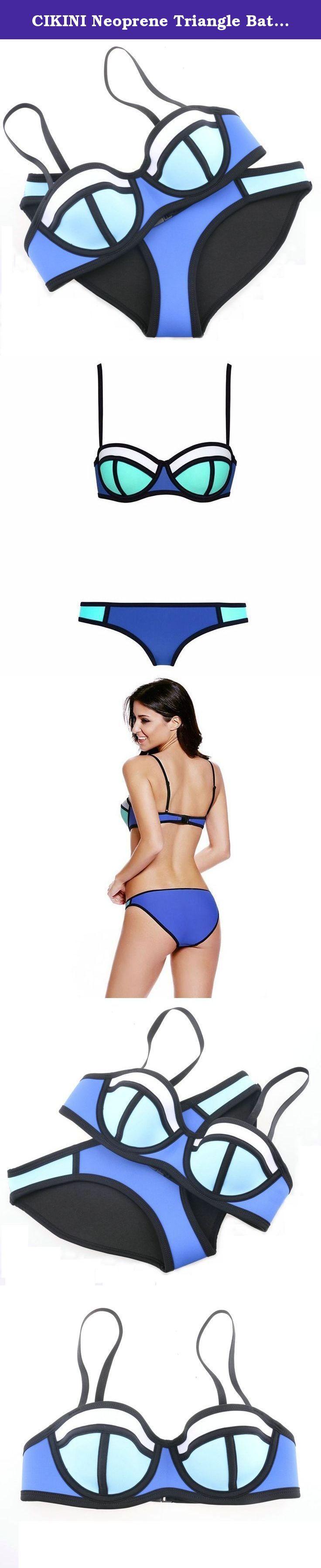 CIKINI Neoprene Triangle Bathing Swimwear Push Up bikini (XS(US0-2), Color 5). XS top : cup(A-B) . Bust/cup size Ref.(32A,32B,34A).Bust (75-83cm). XS bottom:85CM(83-87CM) S top : cup(B-C) . Bust/cup size Ref.(32C,34B,36B,36B ,38A).Bust (83-88cm). S bottom:90CM(87-92CM) M top : cup(C-D) . Bust/cup size Ref.(34C,34D,36C,38C).Bust (88-93cm). M bottom:95CM(92-97CM) L top : cup(D-DD) . Bust/cup size Ref.(36D,38D).Bust (93-99cm). L bottom:100CM(97-103CM) XL top : cup(DD-E) . Bust/cup size...