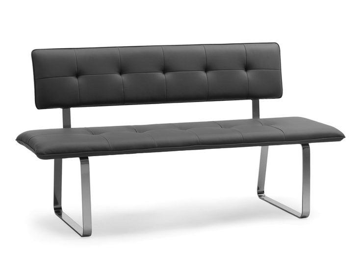 LUCAS - Bench with backrest - Grey
