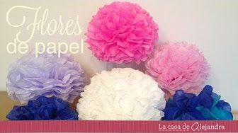 POMPONES DE PAPEL CREPE | SUPER FACIL - YouTube