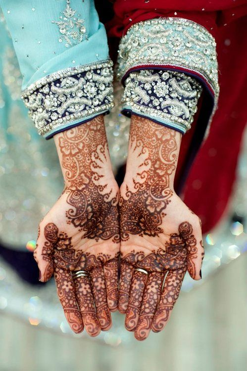 henna design, bridal henna Desi Weddings