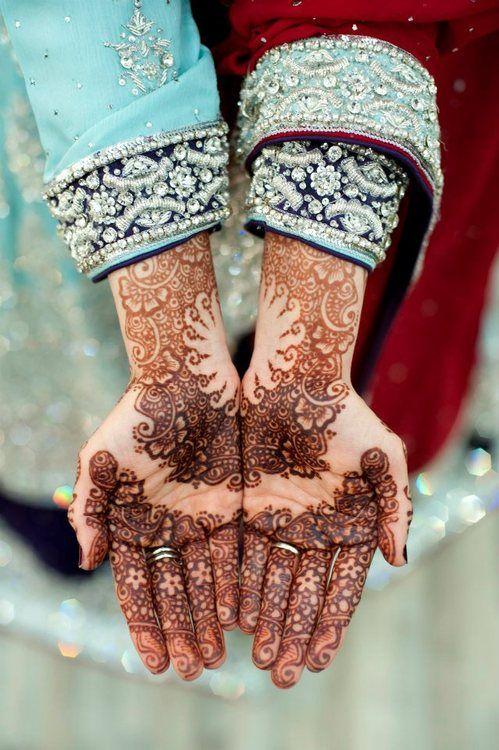 henna design, bridal henna Desi Weddings