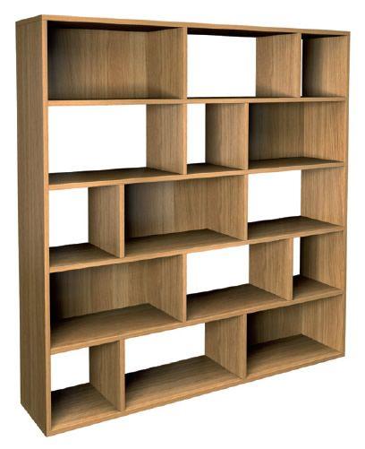 Jitona Marco Modern Asymmetric Shelf - Large - Oak - MQD3011 - Bookcases, Living Room Furniture - Furniture Haus Direct