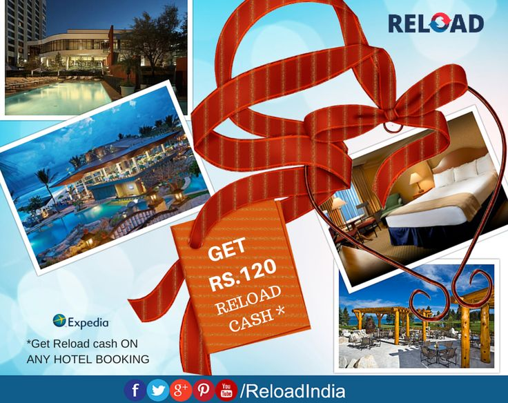 Book Hotel rooms online @Reload and get exclusive special #Reload credits. https://www.reload.in/shop-and-earn-free-mobile-recharge-online