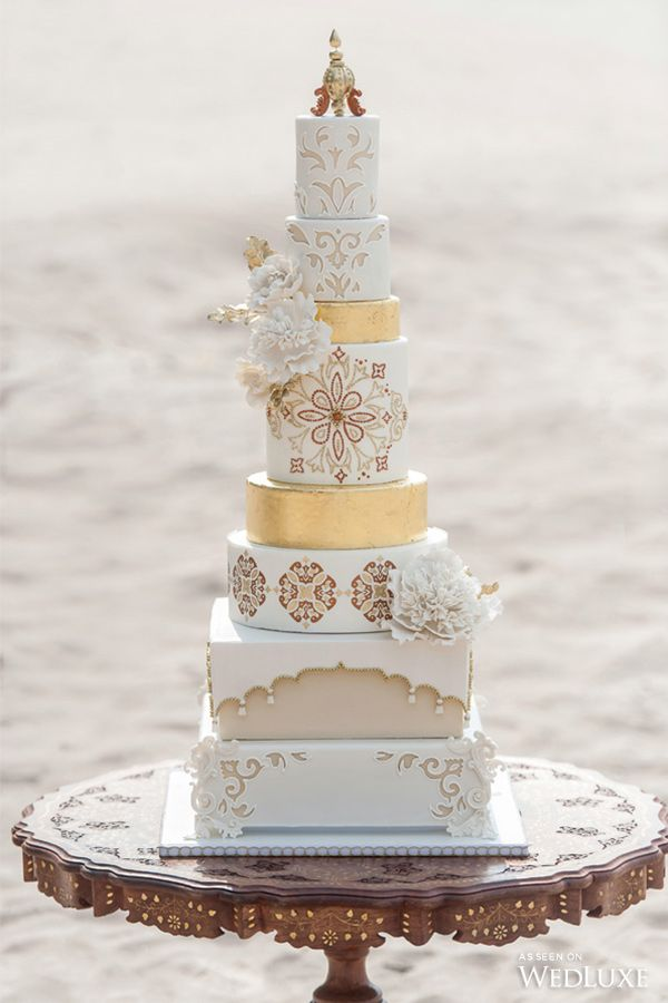 Cake by Truffle Cake and Pastry | Intricately designed cake from our Styled Shoot inspired by Morocco!