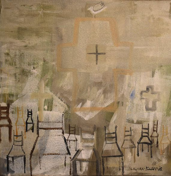 Twelve Chairs Last Supper Apostles Religious Spiritual By PamiC SupperSpiritualDining RoomsReligious ArtNunDining