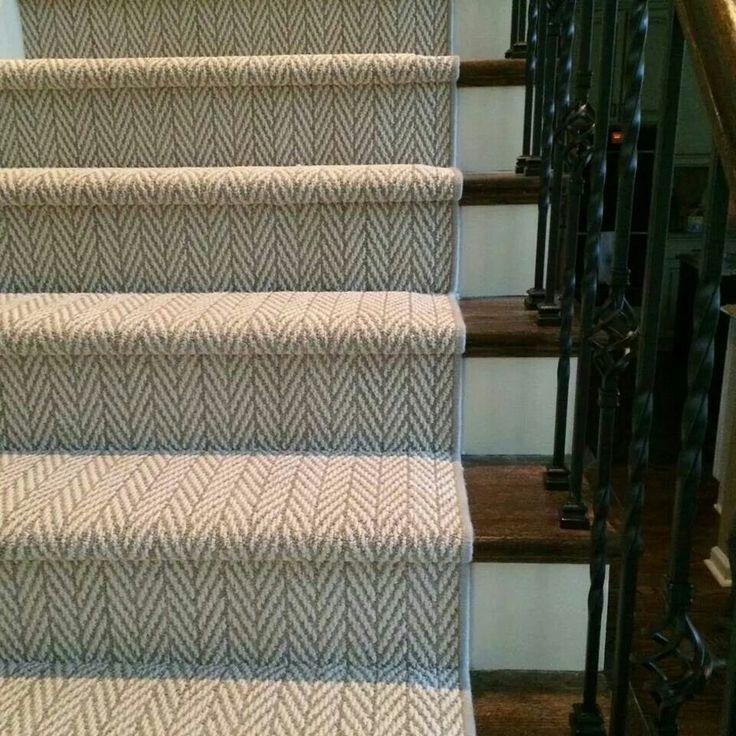maybe on back staircase natural herringbone stair runner