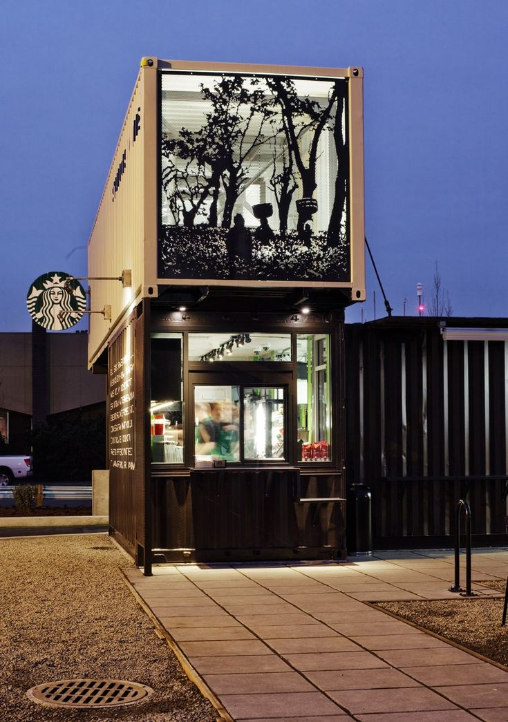 Check Out Starbucks' Fancy New Concept Store Made Out Of Shipping Containers - Business Insider