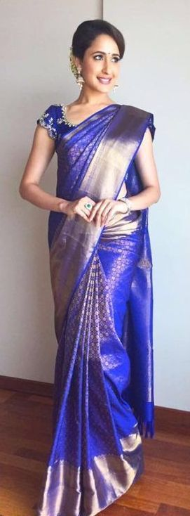 Blue Kanjivaram Silk Saree