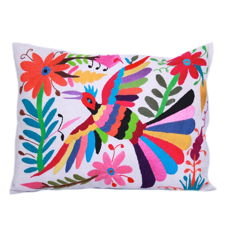 beautiful mexican handmade Danaá Otomi Pillow