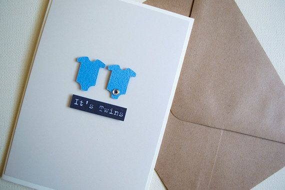 It's Twins Boy  New Baby Card by  Le Petit Hibou on Etsy, €4.50