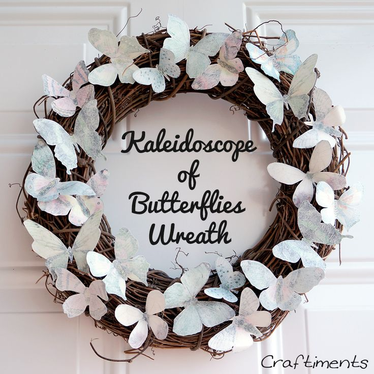 Unique wreath with butterflies :-)