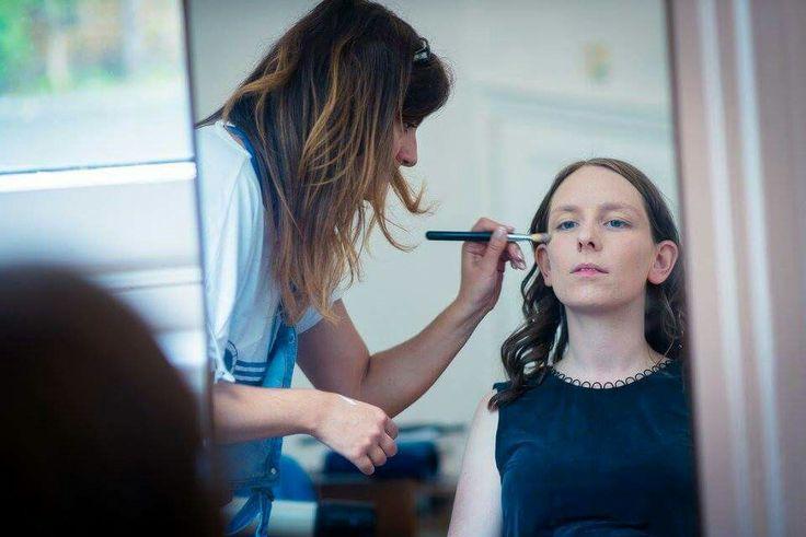 Make up prep! Hair and make up by @scissorsofoz #scissorsofoz