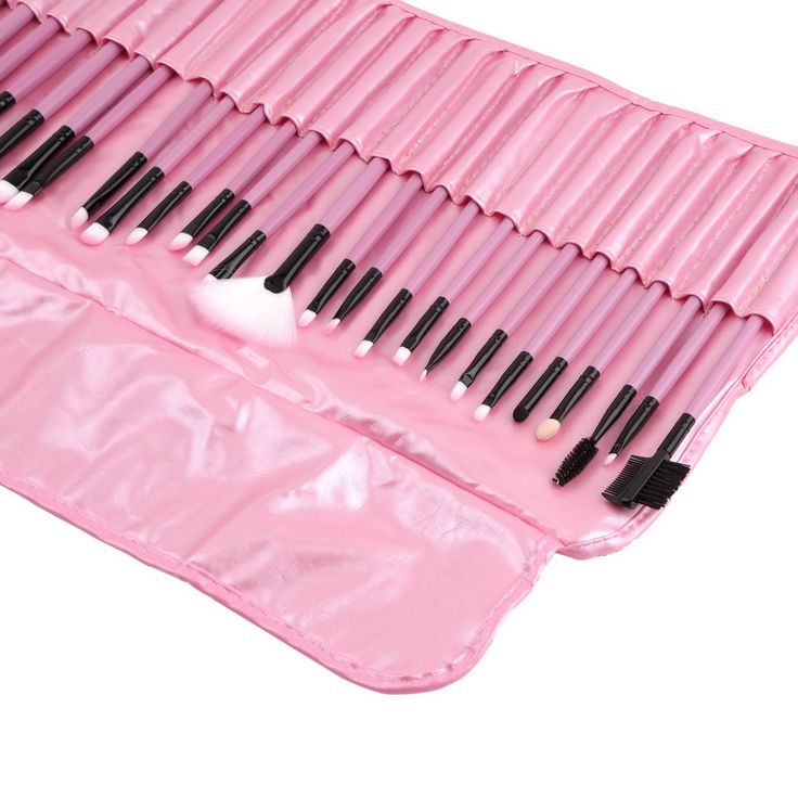 High Quality 32Pcs/Set Superior Soft PINK Makeup Cosmetic Brush Set Kit With Pouch Bag Case