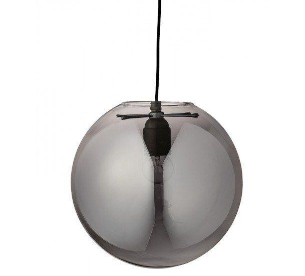 Bloomingville Pendel - Grå - Loftslampe i grå glas