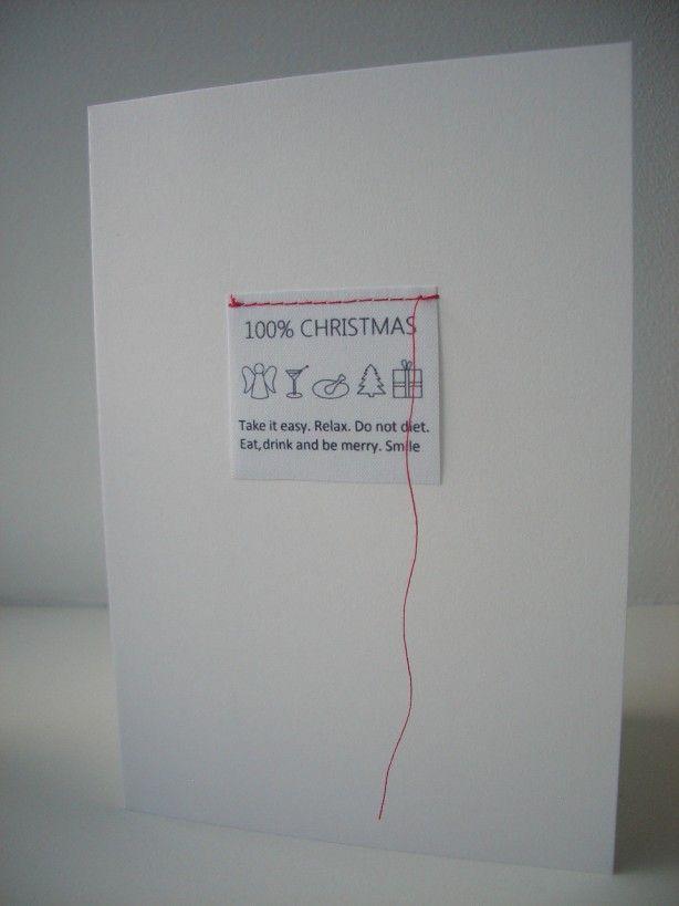 Aparte kerstkaart van BINNEN woonaccessoires. Christmas card - DIY