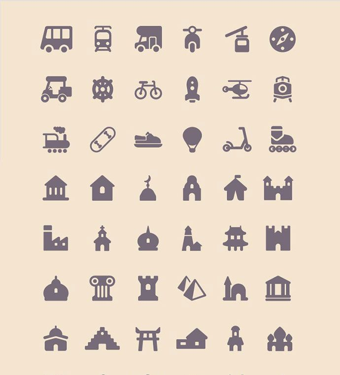 11 Icon Sets That You Can Use In Travel Website   Bashooka   Web & Graphic Design