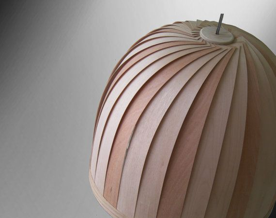 Wood Veneer Lamp Handmade On Etsy 2 Light