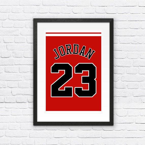 Michael Jordan Number 23 Chicago Bulls Jersey Art Print