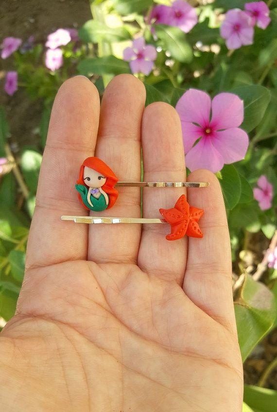 Ariel les épingles à cheveux petite sirène. par CandyDesignCrea