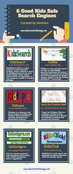 6 Kids-Safe Search Engines Infographic - http://elearninginfographics.com/6-kids-safe-search-engines-infographic/