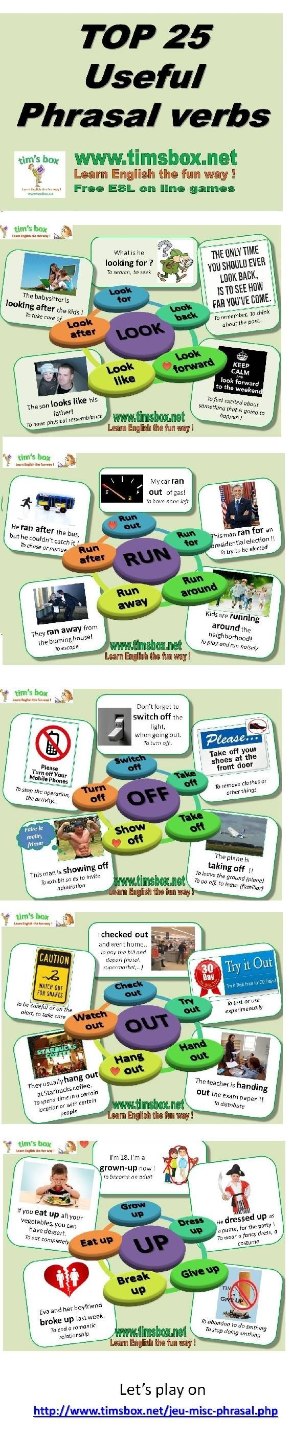 Top Useful Phrasal Verbs in English