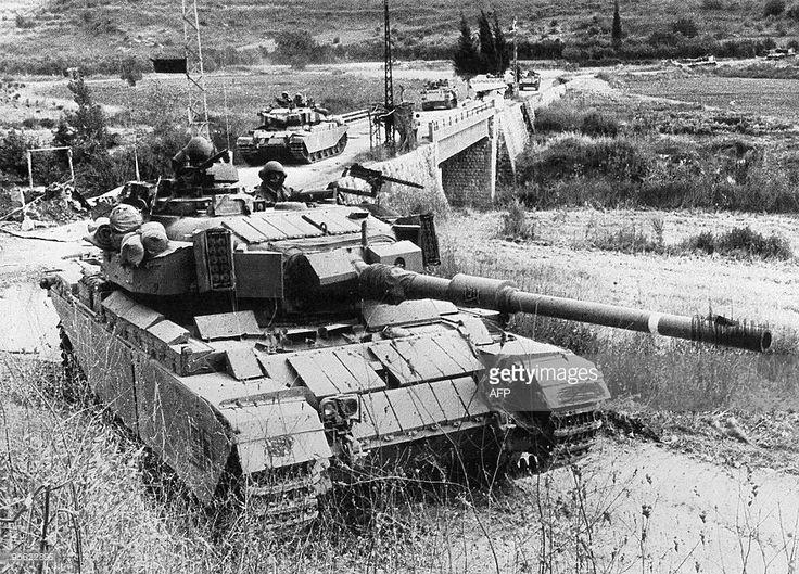 Israeli Centurion tanks cross the Litani River in southern Lebanon 06... News Photo   Getty Images