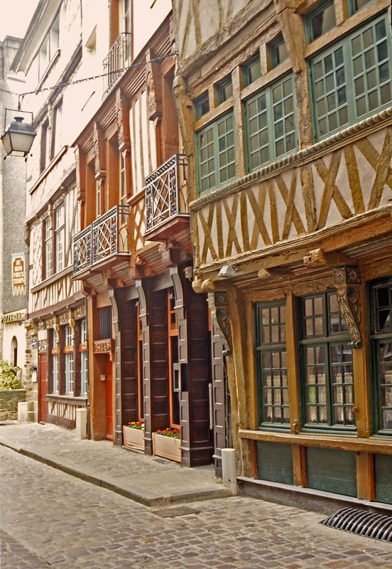 Rennes in Brittany - well worth a visit to explore the old medieval streets