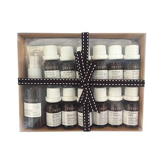 Aromatherapy Synergy 12 Kit - If you would like all twelve Twenty8 blends then this is the ideal starting point. Not only do you get all the synergy blends but a beautiful 50ml spritzer bottle and a set of blending stickers for easy labelling. http://www.twenty8.com/online-store/essential-oil-synergy-blends/aromatherapy-synergy-12-kit