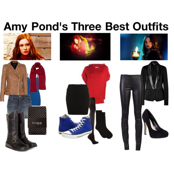amy pond, i'm not sure about the red sweatshirt...