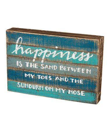 Look at this #zulilyfind! 'Happiness' Slat Box Sign #zulilyfinds