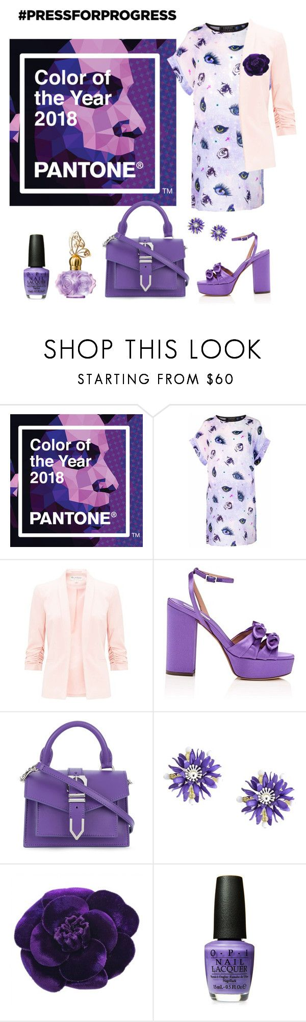 """""""Purple: Smartly dressed casual"""" by cheekylightfic-writer ❤ liked on Polyvore featuring Louise Coleman, Miss Selfridge, Tabitha Simmons, Versus, Moschino, Chanel, purplepower, internationalwomensday and pressforprogress"""
