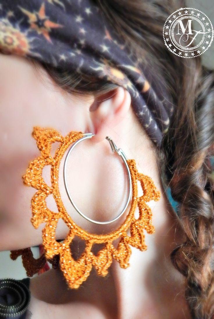 Easy & Fabulous crochet earring tutorial - jazz up your old hoops!