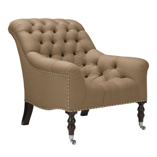 Mayfair Tufted Chair  Traditional, Transitional, Upholstery  Fabric, Armchairs  Club Chair by Ralph Lauren Home