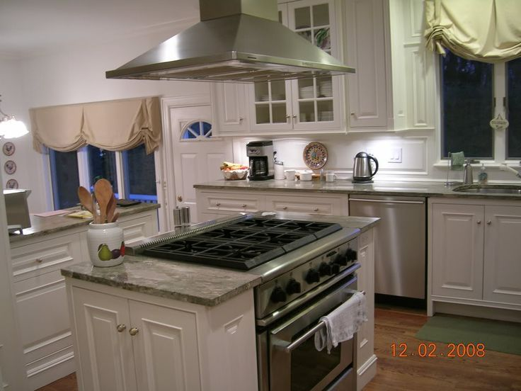 Kitchen Island With Slide In Stove kitchen island with stove. beautifully rustic island features the