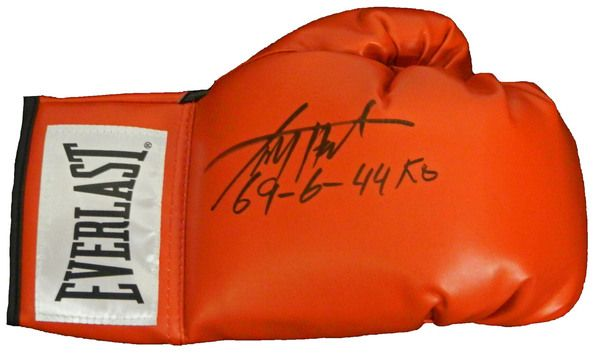Larry Holmes Signed Everlast Red Boxing Glove w/69-6-44KO