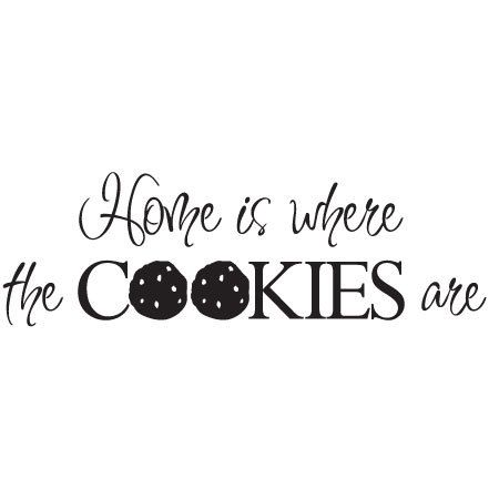Wall decal  Home is where the cookies are by DiMariaDenmark, kr249.00