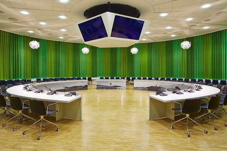 Town Hall in Hjoerring, Denmark #surface #forbo #interiordesign #linoleum