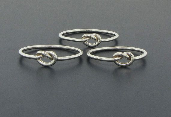 This is a sweet little love knot ring that will remind you of the love in your life.    This set of three (3) rings is just perfect for you and your