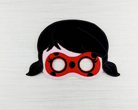 Ladybug Mask  Ladybug Felt Mask  Girl Felt Mask  Ladybird
