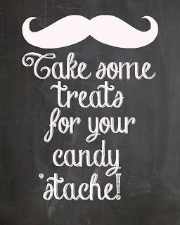 candy stache...free mustache party prints #freeprint #mustacheprint #mustacheparty #stacheprint