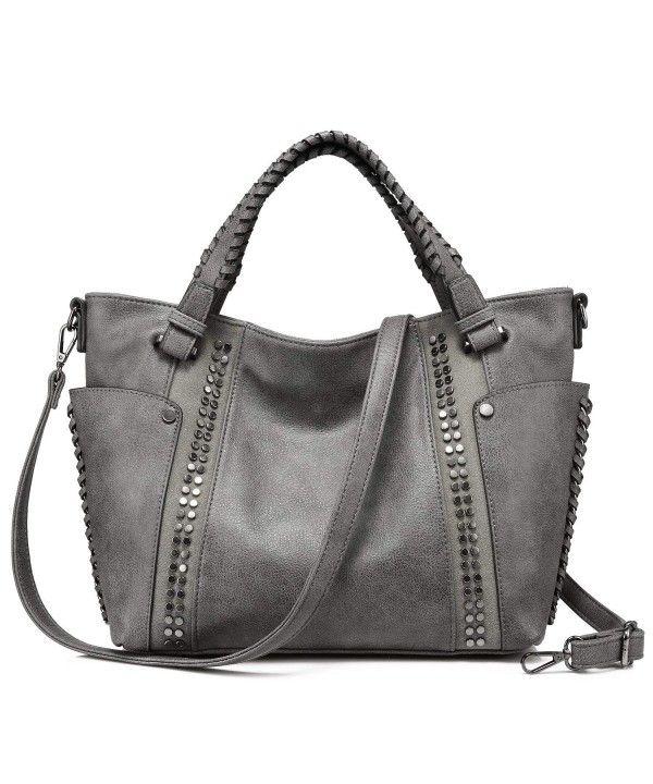 329de35a5ccd Handbags for Women Large Tote Purses Designer Shoulder Bag - Gray ...